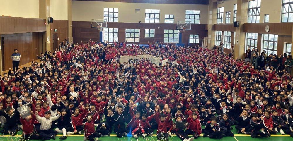 文物大使向鏡平1200名學生推廣澳門世遺