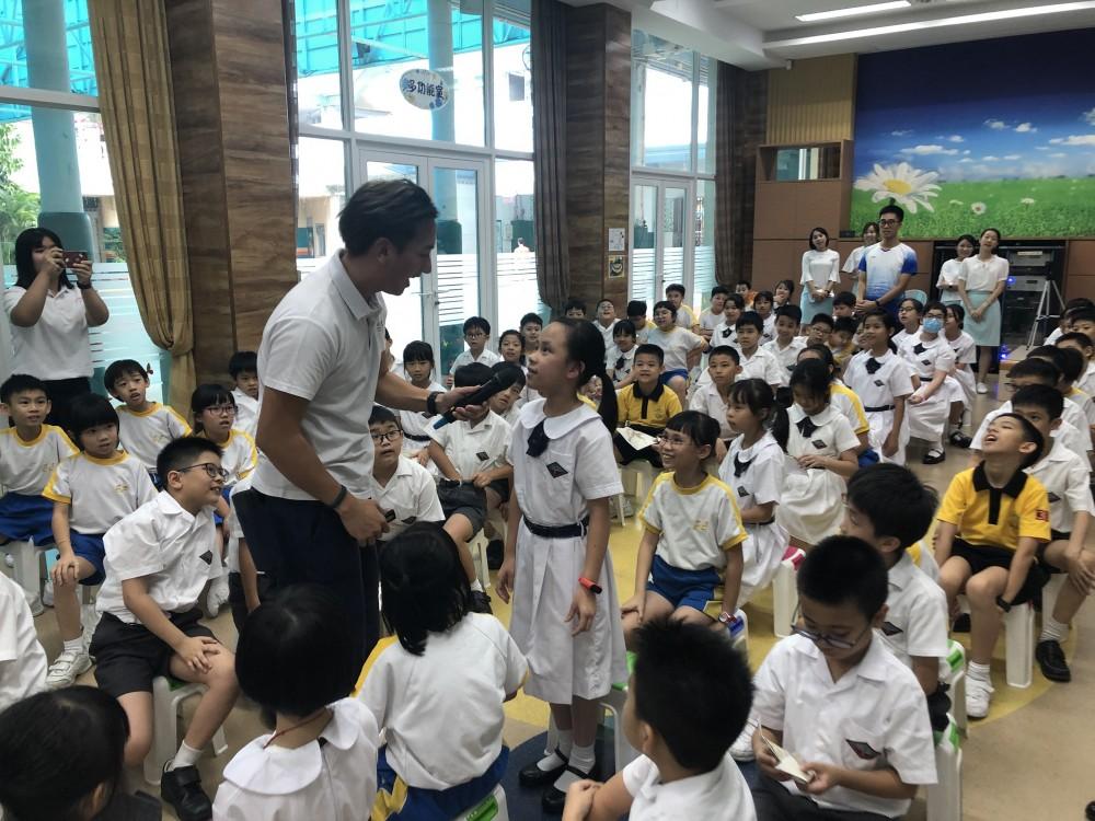 校園巡講向蔡高聖家師生推廣澳門歷史文化